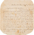 Military & Patriotic:Civil War, Civil War Letters of Edward Dale, Captain, Cavalry Core, Office of Commissary of Subsistence....