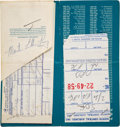 Autographs:Celebrities, Martin Luther King Jr. Boarding Pass Signed ...