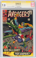 Silver Age (1956-1969):Superhero, The Avengers #31 Signature Series: Stan Lee (Marvel, 1966) CGC FN/VF 7.0 Off-white to white pages....