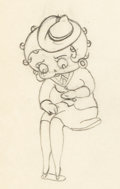Animation Art:Production Drawing, Judge for a Day Betty Boop Animation...
