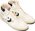 Basketball Collectibles:Others, 1985-86 Bill Laimbeer Game Worn Detroit Pistons Sneakers....