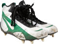 Football Collectibles:Others, 1995 Reggie White Game Worn Green Bay Packers Cleats & Socks. ...
