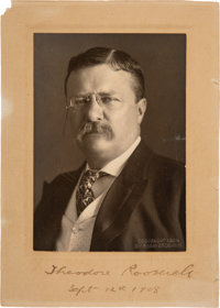 Theodore Roosevelt Photograph Signed