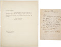 Autographs:Artists, Gioachino Rossini Autograph Letter Signed ...
