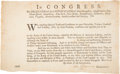 Autographs:Statesmen, Henry Laurens Blank Military Appointment Signed ...