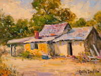 Rolla Sims Taylor (American, 1872-1970) Old Shack Oil on canvas 9 x 12 inches (22.9 x 30.5 cm)