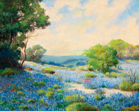 William Frederick Jarvis (American, 1898-1966) Bluebonnets Oil on canvas 16 x 20 inches (40.6 x 5