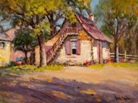 Rolla Sims Taylor (American, 1872-1970) Old House Oil on canvasboard 12 x 16 inches (30.5 x 40.6
