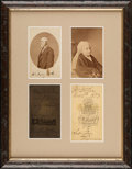 Photography:CDVs, Robert E. Lee and Mary Custis Lee Cartes de Visite by Photographer Michael Miley. ...