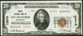 National Bank Notes:California, San Francisco, CA - $20 1929 Ty. 2 Pacific NB Ch. # 12579 Choice About Uncirculated.. ...