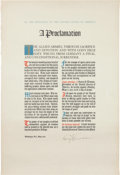 Autographs:U.S. Presidents, Harry S. Truman Proclamation of German Surrender Signed . ...