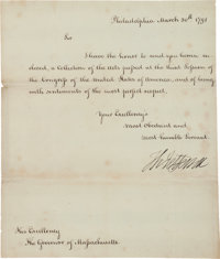 Thomas Jefferson Circular Letter Signed