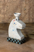 Fine Art - Sculpture, American, Bruce M. Sherman. Ancient Chess Piece, 2019. Stoneware. 19 x 11 x 6 inches (48.3 x 27.9 x 15.2 cm). Courtesy of the ar...
