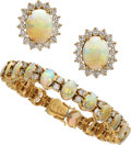 Estate Jewelry:Suites, Diamond, Opal, Gold Jewelry Suite. ... (Total: 2 Items)