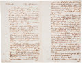 Miscellaneous, Benjamin Franklin Copy-Press Letter of Autograph Letter Signed....