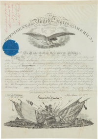 Abraham Lincoln Military Commission Signed