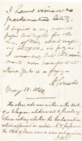 Autographs:U.S. Presidents, Abraham Lincoln Note Signed ...