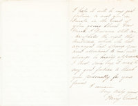 Mary Todd Lincoln Autograph Letter Signed