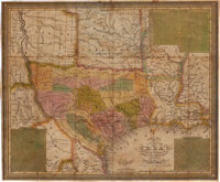 Samuel Augustus Mitchell. New Map of Texas with the Contiguous American & Mexican States, 1836