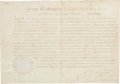 Autographs:U.S. Presidents, George Washington Appointment Signed. ...