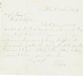 Autographs:Military Figures, Robert E. Lee Autograph Letter Signed...