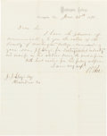 Autographs:Military Figures, Robert E. Lee Letter Signed ...