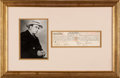 Autographs:Celebrities, Al Capone Loan Signed Twice...