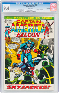 Captain America #145 Twin Cities Pedigree (Marvel, 1972) CGC NM 9.4 White pages