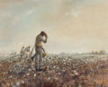 Fine Art - Painting, American, Robert M. Rucker (American, 1932-2001). Working the Cotton Field. Oil on canvas. 24 x 30 inches (61.0 x 76.2 cm). Signed...
