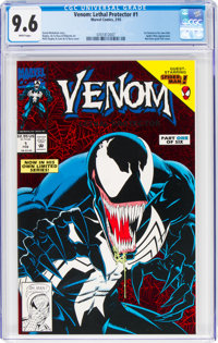 Venom: Lethal Protector #1 (Red holo-grafx foil cover) (Marvel, 1993) CGC NM+ 9.6 White pages