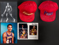 Autographs:Others, Basketball Greats Signed Memorabilia Lot of 5....