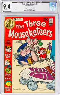 The Three Mouseketeers #7 Murphy Anderson File Copy (DC, 1971) CGC NM 9.4 White pages