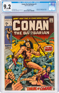 Conan the Barbarian #1 (Marvel, 1970) CGC NM- 9.2 White pages