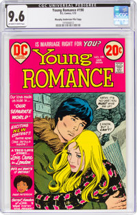 Young Romance #190 Murphy Anderson File Copy (DC, 1973) CGC NM+ 9.6 Off-white to white pages