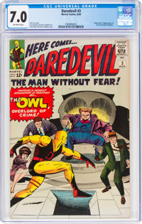 Daredevil #3 (Marvel, 1964) CGC FN/VF 7.0 Off-white pages