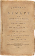 Books:First Editions, [John Adams]. Journal of the Senate of the United States,...