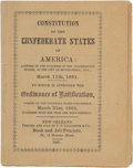 Books:Americana & American History, Constitution of the Confederate States of America:. ...
