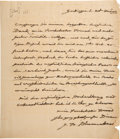 Autographs:Non-American, Johann Blumenbach Autograph Letter Signed. One page with i...