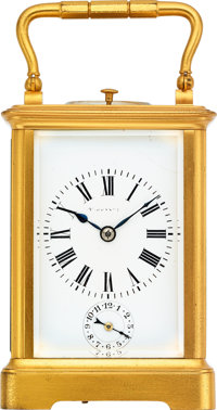 Tiffany & Co., Carriage Clock With Strike, Repeat & Alarm, circa 1900