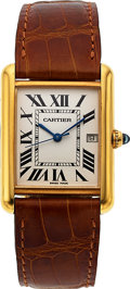 Timepieces:Wristwatch, Cartier, Tank Louis Cartier, 18k Gold, Ref. 2441, Circa 2000. ...