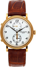 "Timepieces:Wristwatch, Patek Philippe, 18k Yellow Gold ""Travel Time"", Ref. 5034J, Circa 2000. ..."
