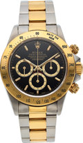 "Timepieces:Wristwatch, Rolex, Ref. 16523 Cosmograph ""Zenith"" Daytona, Steel and Gold, Circa 1991. ..."