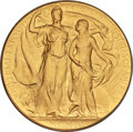 MCMIV (1904) Louisiana Purchase Exposition Commemorative Gold Medal. MS66 NGC. Baxter-108, similar to Hendershot 30-40 t...