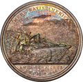 1846 Mexican War Silver Medal. Loss of the Brig Somers. MS64 NGC. Julian NA-24