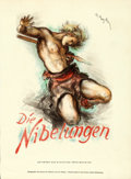 "Movie Posters:Fantasy, Die Nibelungen Lot (UFA, 1924). Very Fine-. German Poster (8.75"" X 12""), First Edition German Hardcover Book (268 Pages, 5"" ... (Total: 7 Items)"
