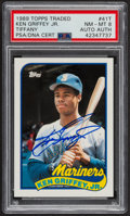 Autographs:Sports Cards, Signed 1989 Topps Traded Tiffany Ken Griffey Jr. #41T PSA/DNA NM-MT 8....