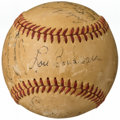 Autographs:Baseballs, 1949 Cleveland Indians Multi-Signed Baseball with Bob Hope & Tris Speaker (17 Signatures)....