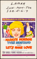 "Movie Posters:Comedy, Let's Make Love (20th Century Fox, 1960). Very Fine-. Window Card (14"" X 22""). Comedy.. ..."