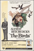 """Movie Posters:Hitchcock, The Birds (Universal, 1963). Fine on Linen. One Sheet (27"""" X 41.25""""). Hitchcock.. ..."""