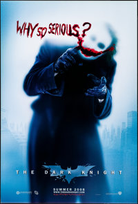 "The Dark Knight (Warner Brothers, 2008). Rolled, Very Fine/Near Mint. One Sheet (27"" X 40"") DS, Advance, ""..."